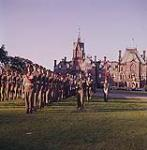 MIKAN 4302010 The Canadian Guards in khaki uniforms, on parade, during Dominion Day ceremony. Ottawa, Ontario.  01 July 1961 [212 KB, 1000 X 1018]