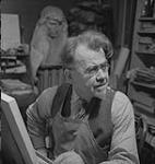 MIKAN 4325487 Hahn Emanuel, Sculptor, 1941, Emanuel Hahn in his studio   1941 [104 KB, 1000 X 1055]