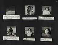 MIKAN 5350500 Inuuk children who were victims of the 1949 polio epidemic recovered and playing; Inuk woman with her child; Elderly Inuk woman; Inuk boy; Dirty Daisy's daughter; Inuk woman. 1950 [Inuuk children who were victims of the 1949 polio epidemic recovered and playing; Inuk woman with her child; Elderly Inuk woman; Inuk boy; Dirty Daisy's daughter; Inuk woman., 1950]