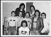 MIKAN 4381411 Radio station JC55 of Kamloops, B.C. welcoming Harlequin, the supporting act during the Western part of Chilliwack's 'Breaking the 80's' tour  [between 1979-1986]. [Radio station JC55 of Kamloops, B.C. welcoming Harlequin, the supporting act during the Western part of Chilliwack's 'Breaking the 80's' tour, [between 1979-1986].]