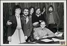 MIKAN 4381681 The Imps signing with the Quality record label  ca. 1980. [161 KB, 1000 X 693]