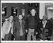 MIKAN 4381155 The members of Morcheeba, pictured here with Warner Music Canada president Stan Kulin (the tall one), were in Toronto recently for a day of promotion. [between 1996-2000] [152 KB, 1000 X 802]