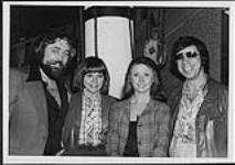 MIKAN 4429991 Ted Daigle standing with Jerry and Jo'Anne Robitaille and an unidentified person  [between 1975-1979]. [147 KB, 1000 X 703]