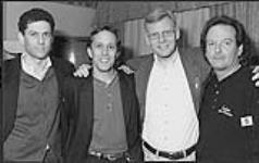 MIKAN 4444668 Alan Kates, Paul Alofs and Charlie Major with an unidentified man  [between 1993-2000]. [Alan Kates, Paul Alofs and Charlie Major with an unidentified man, [between 1993-2000].]