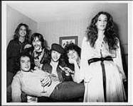 MIKAN 4442529 Members of A&M's Sad Café pictured here with Q107's Terry Michaels and CHFI's Peggy Colston  [between 1978-1979]. [160 KB, 1000 X 800]