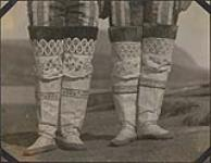 MIKAN 4377482 Showing highly ornamented boots worn by native women at Godhavn. 1924. [141 KB, 1000 X 772]