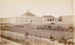 MIKAN 4820389 York Factory, [Man.], Garden and Storehouse, looking North-East. 1878. [147 KB, 1000 X 598]