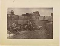 "MIKAN 3228136 ""Asleep in the trenches""  ca. 10 May 1885. ['Asleep in the trenches', ca. 10 May 1885.]"