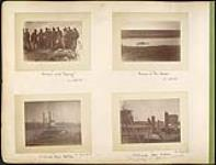 "MIKAN 4804781 Pow wow with ""Beardy"" / Ferrying at Fort Carlton / Northcoate before Batoche / Northcoate after Batoche 1885. [Pow wow with 'Beardy' / Ferrying at Fort Carlton / Northcoate before Batoche / Northcoate after Batoche, 1885.]"