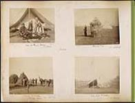 "MIKAN 4804791 Crees at Prince Albert / Sentry Box / Camp ""B"" Battery Prince Albert / Mess Tent ""B"" Battery 1885. [Crees at Prince Albert / Sentry Box / Camp 'B' Battery Prince Albert / Mess Tent 'B' Battery, 1885.]"