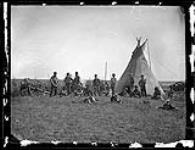 MIKAN 3411900 [Métis] camp on the Elbow of [North] Saskatechewan River, Saskatchewan  September 1871. [[Métis] camp on the Elbow of [North] Saskatechewan River, Saskatchewan, September 1871.]