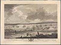 MIKAN 2935769 Part of the town and harbour of Halifax in Nova Scotia, looking down George Street to the opposite shore called Dartmouth. ca. 1777. [Part of the town and harbour of Halifax in Nova Scotia, looking down George Street to the opposite shore called Dartmouth., ca. 1777.]