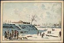MIKAN 2835803 Winter fishing on ice of Assynoibain & Red River. 1821 [Winter fishing on ice of Assynoibain & Red River., 1821]