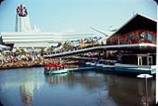 MIKAN 3198383 Great Britain and Trinidad-Tobago and Grenada pavilions at Expo 67. 1967 [Great Britain and Trinidad-Tobago and Grenada pavilions at Expo 67., 1967]