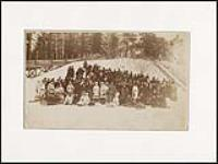 MIKAN 3203665 Princess Louise with group in front of toboggan slide at Rideau Hall. ca. 1880. [143 KB, 1000 X 750]