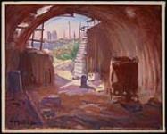 MIKAN 2894910 Interior of a Pill Box, Flanders [Intérieur d'une casemate, Flandres]. 1920 [194 KB, 1000 X 802]