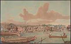 MIKAN 2897032 Établissement à Sault Ste. Marie (Ontario), et canal à l'arrière-plan  1869 [127 KB, 1000 X 612]