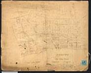MIKAN 2148133 Plan of Bronte, Twelve Mile Creek, township of Trafalgar, Ontario. 1834. [Plan of Bronte, Twelve Mile Creek, township of Trafalgar, Ontario., 1834.]