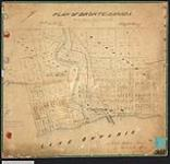 MIKAN 2148217 Plan of Bronte, Canada West, showing park lots east and west of Twelve Mile Creek, and shore line of Lake Ontario. / 1848. [Plan of Bronte, Canada West, showing park lots east and west of Twelve Mile Creek, and shore line of Lake Ontario. /, 1848.]