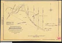 MIKAN 2148445 Plan of part of lot 51, Sarnia Indian Reserve, also showing new survey and Great Western Railways. / 1871. [Plan of part of lot 51, Sarnia Indian Reserve, also showing new survey and Great Western Railways. /, 1871.]