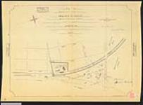 MIKAN 2148460 Plan of part of the Sarnia Indian Reserve known as the Mission Grounds sold to the Great Western Railway Company. / 1873. [Plan of part of the Sarnia Indian Reserve known as the Mission Grounds sold to the Great Western Railway Company. /, 1873.]