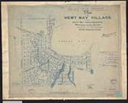 MIKAN 2148497 Plan of the West Bay Village in the West Bay Indian Reserve, Manitoulin Island, Ontario. / 1918. [Plan of the West Bay Village in the West Bay Indian Reserve, Manitoulin Island, Ontario. /, 1918.]