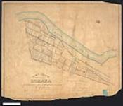 MIKAN 2148210 Plan of the town plot of Indiana, township of Seneca, exhibiting the boundaries of the different claimants. / 1845. [Plan of the town plot of Indiana, township of Seneca, exhibiting the boundaries of the different claimants. /, 1845.]