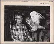 MIKAN 5320380 Ernest Couchie, former chief of the Nipissing Reserve band near North Bay, has been a taxidermist since 1912. [1912-1976] [Ernest Couchie, former chief of the Nipissing Reserve band near North Bay, has been a taxidermist since 1912., [1912-1976]]