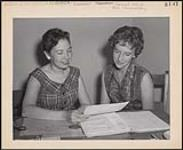 MIKAN 5320324 Here, Marlene is seen on the left with co-worker at Winnipeg C.A.S., Miss Beverly Chafe. [between 1955-1976] [Here, Marlene is seen on the left with co-worker at Winnipeg C.A.S., Miss Beverly Chafe., [between 1955-1976]]