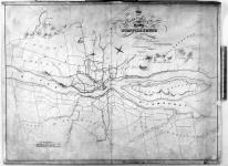 Map of part of Lower Canada shewing the roads under charter by the Quebec Turnpike Trust made by order of C. Alleyne, Esqr., J.N. Poulin and T. Treaudeau, Esqr., Commissioners appointed to investigate into the affairs of the Turnpike Road Trust. [cartographic material].