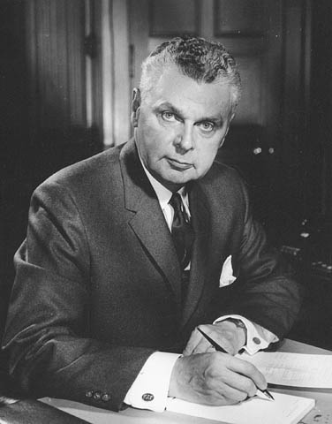 Photograph of John George Diefenbaker - Canada's 13th Prime Minister