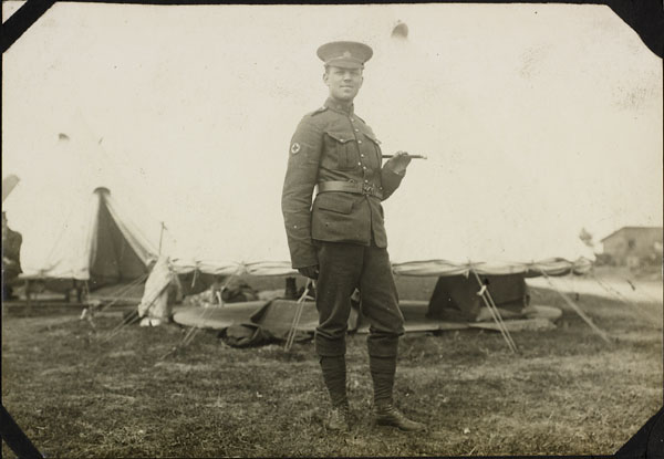 Photograph of an unidentified soldier, No. 2 Canadian General Hospital, Le Tréport, France, 1917