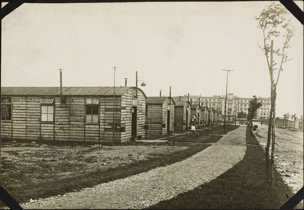 Photograph of the exterior view of medical huts, No. 2 Canadian General Hospital, Le Tréport, France, 1917