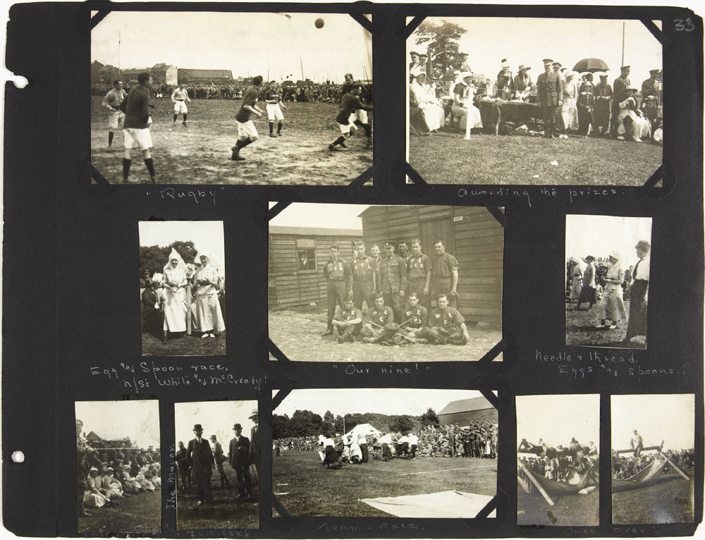 Page 33 of First World War nursing sister Alice Isaacson's photo album showing people, places and events in England, France, Italy, Belgium, Ireland and Spain, 1916-1919
